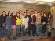 Rector Dr. Sergeev with VSSPU students studying in China