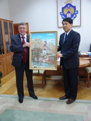 VSSPU Rector Dr. Sergeev with the Ambassador of China