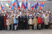 VSSPU administration, faculty and students with war veterans at the Height 102 – Mamayev Kurgan