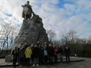 У памятника советским солдатам на Зееловских высотах.
