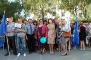 Первокурсники естественно-географического факультета  вместе с деканом
