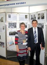 Заведующая музеем истории ВГСПУ Н.В. Широ и Р.Т. Херианов