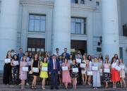Выпускников ВГСПУ поблагодарили за отличную учебу