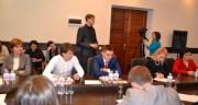 Выступает член профсоюзного комитета студентов ВГСПУ В.Н. Минаев