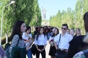 Студентов факультета исторического и правового образования посвятили в студенты на главной высоте России
