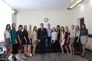 Ректор ВГСПУ Александр Коротков провел рабочую встречу со студенческим профсоюзным активом