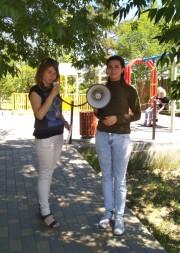 Студенты-волонтеры ВГСПУ приняли участие в региональной акции «Дети и окна»