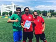 Сборная студентов ВГСПУ одержала победу в товарищеском футбольном матче над командой волонтеров из Англии