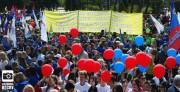 Студенты ВГСПУ встретили первомай на демонстрации