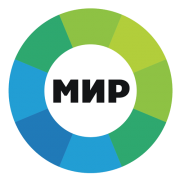 Логотип телерадиокомпании МИР