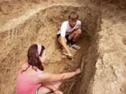 На раскопках
