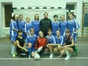 Сборная ВГПУ по мини-футболу с тренером