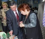 Ректор ВГПУ Н.К. Сергеев на выставке «Синий арбуз»