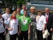 Студенты ВГПУ с Т.В. Яковлевой и А.Т. Паршиковым