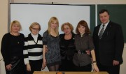 С.И. Мишаткина с преподавателями и студентами факультета психологии и социальной работы