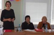 Декан факультета социальной и коррекционной педагогики, к.п.н. Л.Г. Бородаева приветствует участников заседания
