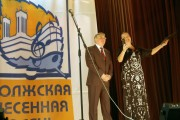 Ректор ВГСПУ Н.К. Сергеев и ведущая церемонии открытия В.В. Путиловская