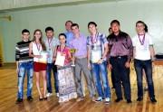 Сборная команда естественно-географического факультета, проректор по учебной работе, профессор В.В. Зайцев
