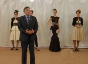 Н.К. Сергеев и модели Е.В. Степаненко