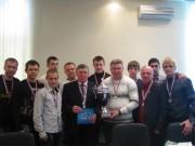 Ректор Н.К. Сергеев с командой ВГСПУ по мини-футболу