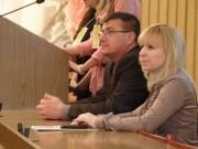 А.М. Коротков и С.А. Комиссарова на открытии школы