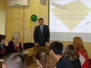 А.М. Коротков торжественно открывает школу