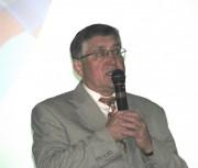 Ректор ВГСПУ, профессор Н.К. Сергеев выступает перед участниками форума
