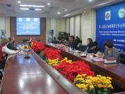 Заседание правления Института Конфуция в Тяньцзиньском университете иностранных языков.