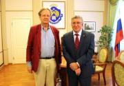 Ректор ВГСПУ, профессор Н.К. Сергеев и г-н Мартин Плодерер