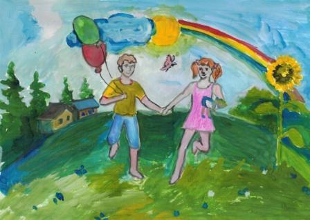 Конкурс рисунков радуга детства